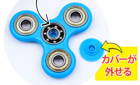 ハンドスピナーのサイズ・重さ・カラーの紹介!使い方、使用方法と遊び方!ベアリングの外し方!